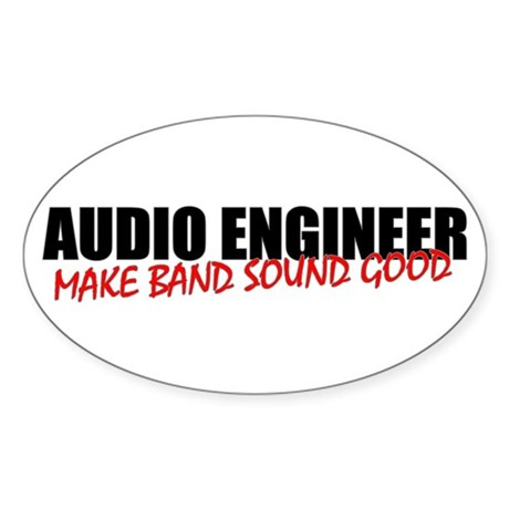 Audio Engineer Sticker (Oval 10 pk)