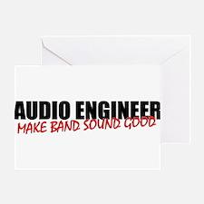 Audio Engineer Greeting Card