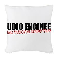 Audio Engineer Woven Throw Pillow