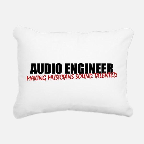 Audio Engineer Rectangular Canvas Pillow