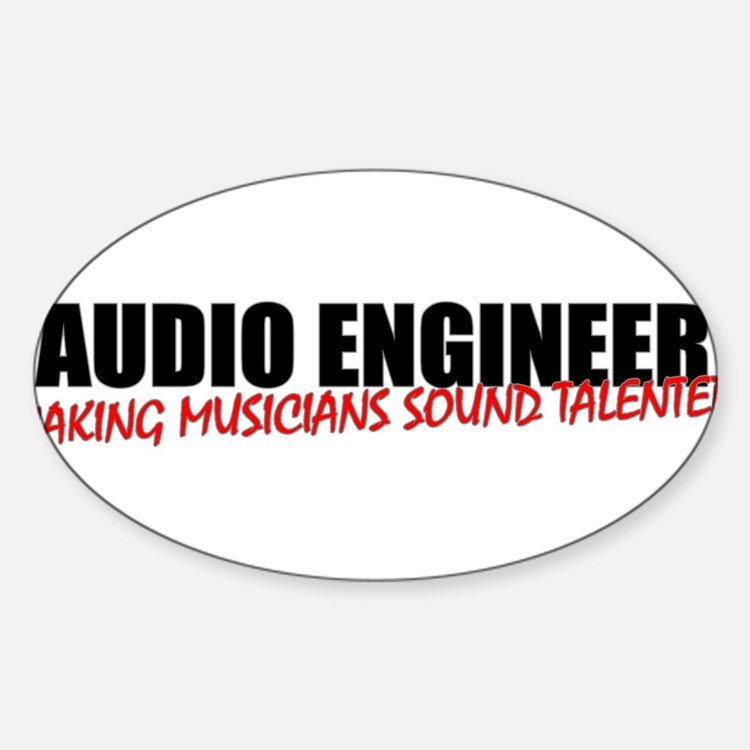 Audio Engineer Sticker (Oval)