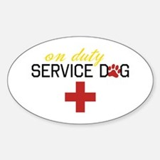 On Duty Service Dog Decal