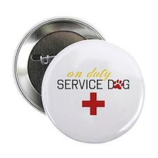 "On Duty Service Dog 2.25"" Button"