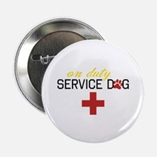 "On Duty Service Dog 2.25"" Button"