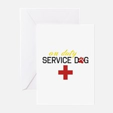 On Duty Service Dog Greeting Cards