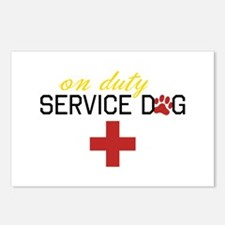 On Duty Service Dog Postcards (Package of 8)