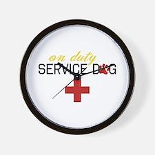 On Duty Service Dog Wall Clock