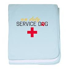 On Duty Service Dog baby blanket
