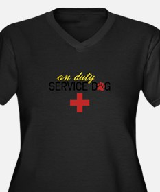 On Duty Service Dog Plus Size T-Shirt
