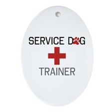 Service Dog Trainer Ornament (Oval)