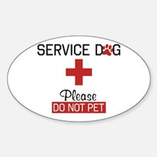 Service Dog Please Do Not Pet Decal