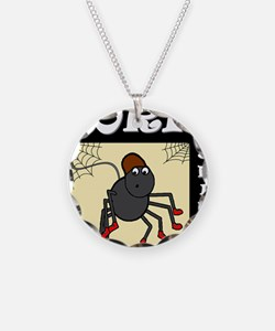 Boris The Spider Necklace Circle Charm