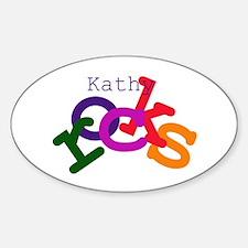 Kathy Rocks Oval Decal
