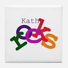 Kathy Rocks Tile Coaster