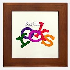 Kathy Rocks Framed Tile