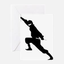 Drum Ninja Greeting Card