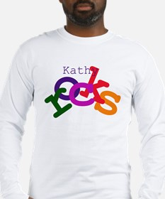 Kathy Rocks Long Sleeve T-Shirt