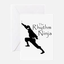 Rhythm Ninja Greeting Card
