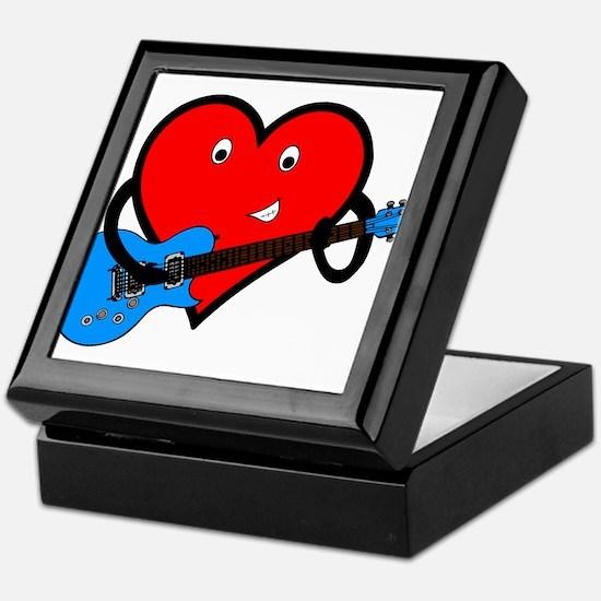 Guitar Heart Keepsake Box