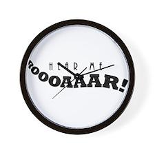 Hear Me Roar! Wall Clock