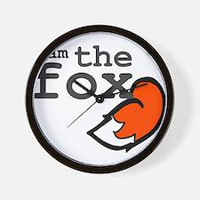 I Am The Fox Wall Clock