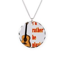 RatherBePlayingGtr Necklace Circle Charm
