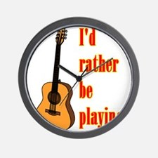 RatherBePlayingGtr Wall Clock