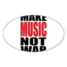 Make Music Not War Decal