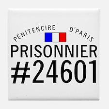 Prisonnier #24601 Tile Coaster