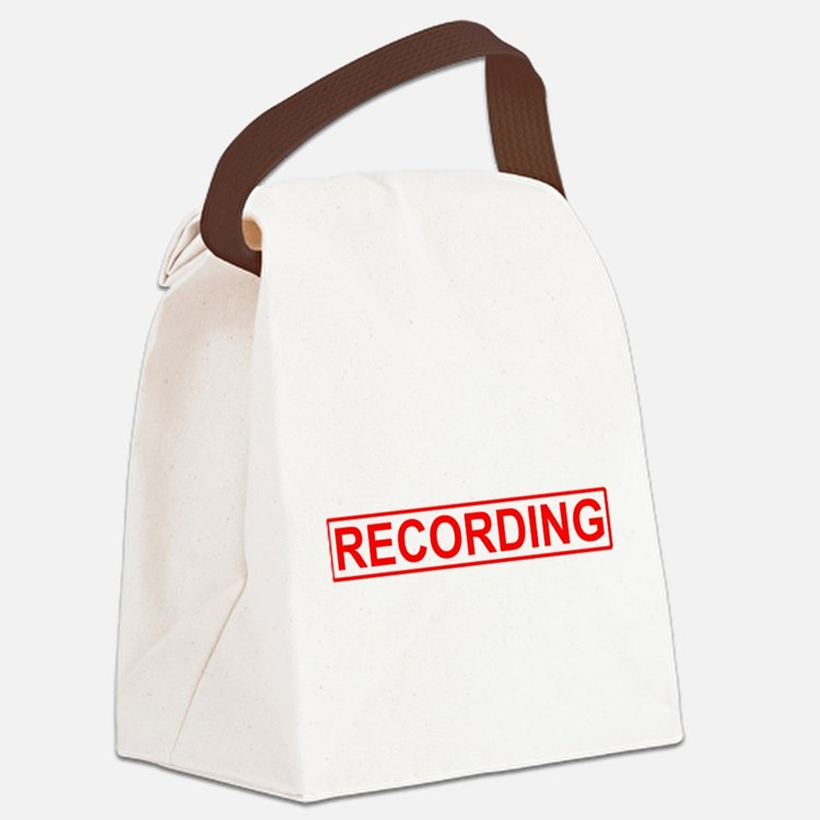 Recording Canvas Lunch Bag