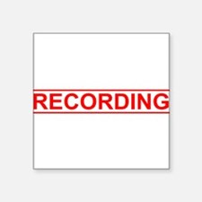 "Recording Square Sticker 3"" x 3"""