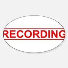 Recording Sticker (Oval)
