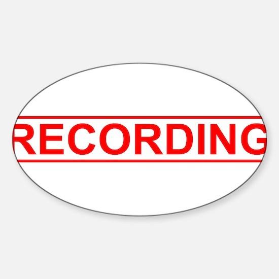 Recording Sticker (Oval)