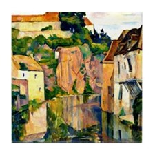 View of Semur - Emile Bernard Tile Coaster
