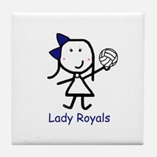 Volleyball - Lady Royals Tile Coaster