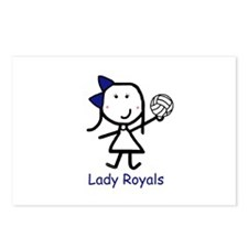 Volleyball - Lady Royals Postcards (Package of 8)