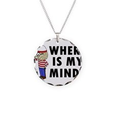 Where Is My Mind Necklace Circle Charm