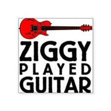 "Ziggy Played Guitar Square Sticker 3"" x 3"""