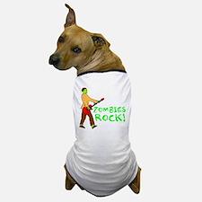 Zombies Rock! Dog T-Shirt