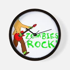 Zombies Rock! Wall Clock