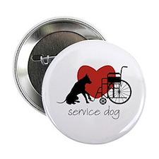 "Service Dog 2.25"" Button"