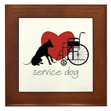 Service Dog Framed Tile