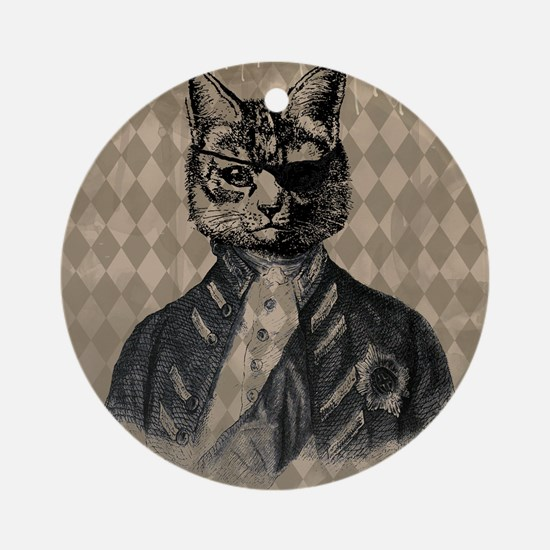 Harlequin Cat Ornament (Round)