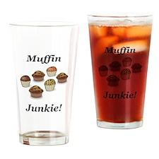 Muffin Junkie Drinking Glass