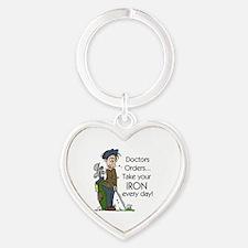 Golf Iron Every Day Heart Keychain