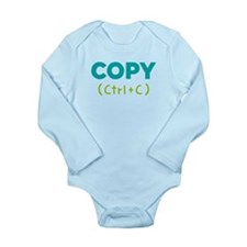 Copy (ctrl+c) Long Sleeve Infant Body Suit