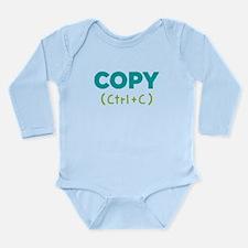 Copy (ctrl+c) Long Sleeve Infant Body Suit