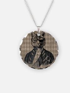 Harlequin Cat Necklace