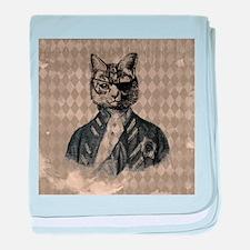 Harlequin Cat baby blanket