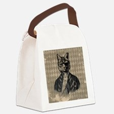 Harlequin Cat Canvas Lunch Bag